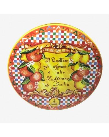 panettone agli agrumi e zafferano arancione