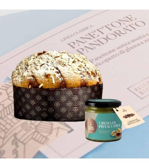 Panettone Pandorato con Crema al Pistacchio